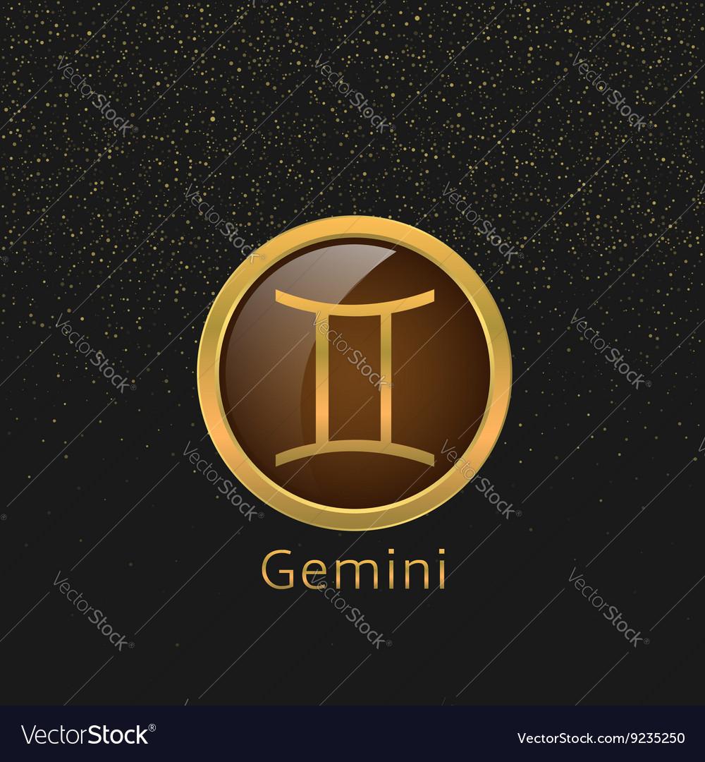 Golden gemini sign royalty free vector image vectorstock golden gemini sign vector image buycottarizona