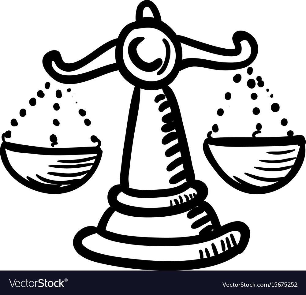 Cartoon image of balance icon scales symbol vector image biocorpaavc Images