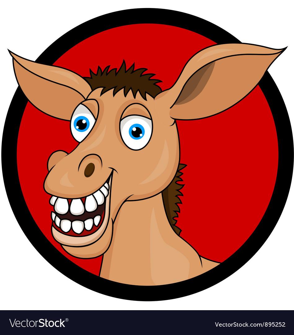 Donkey head cartoon vector image
