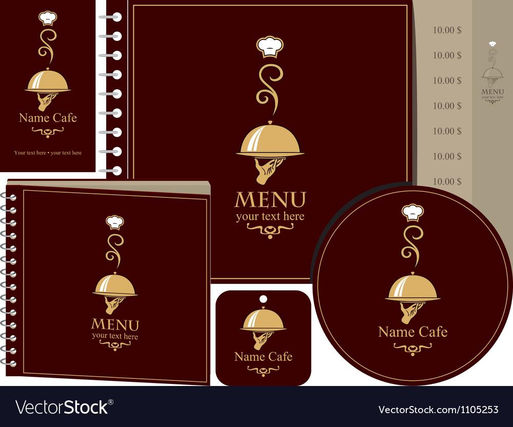 Menu book vector image