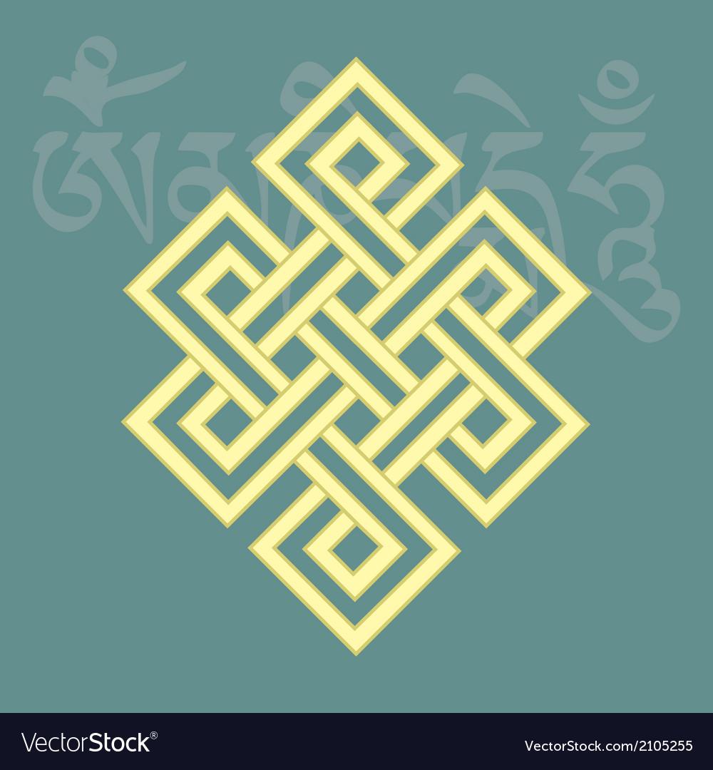 Endless knotone of eight buddhist symbols vector image biocorpaavc Gallery