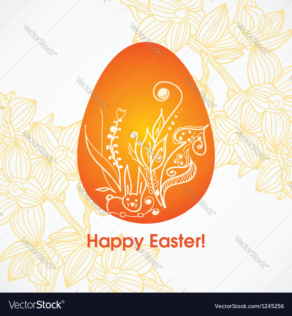 Easter greeting postcard vector image