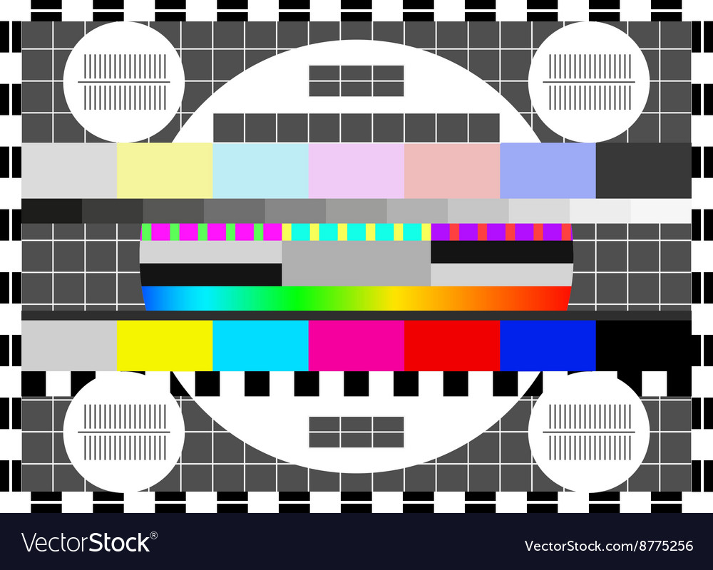 Glitch error signal Loss of the television signal vector image