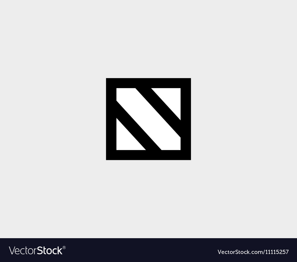Abstract letter N shield logo design template Vector Image