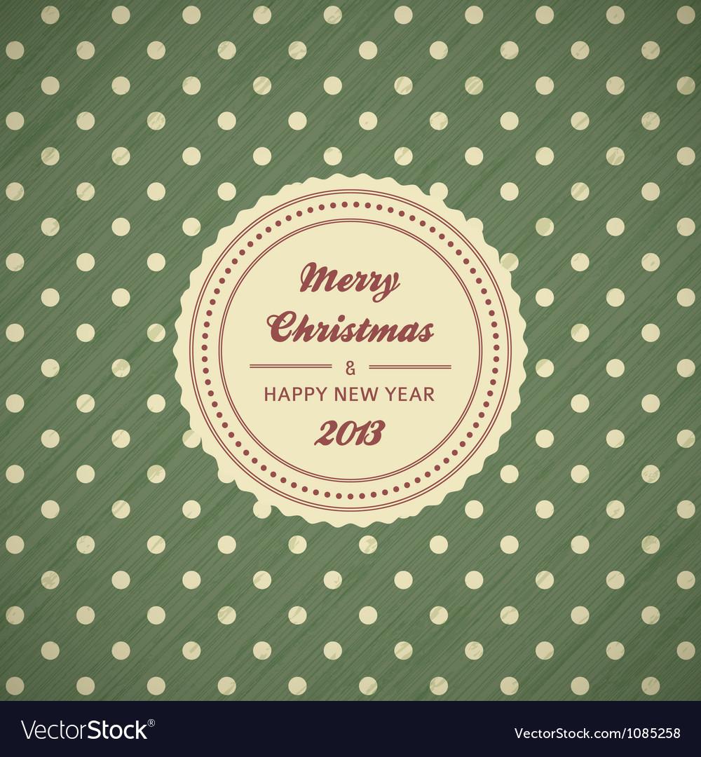 Vintage christmas card background Vector Image