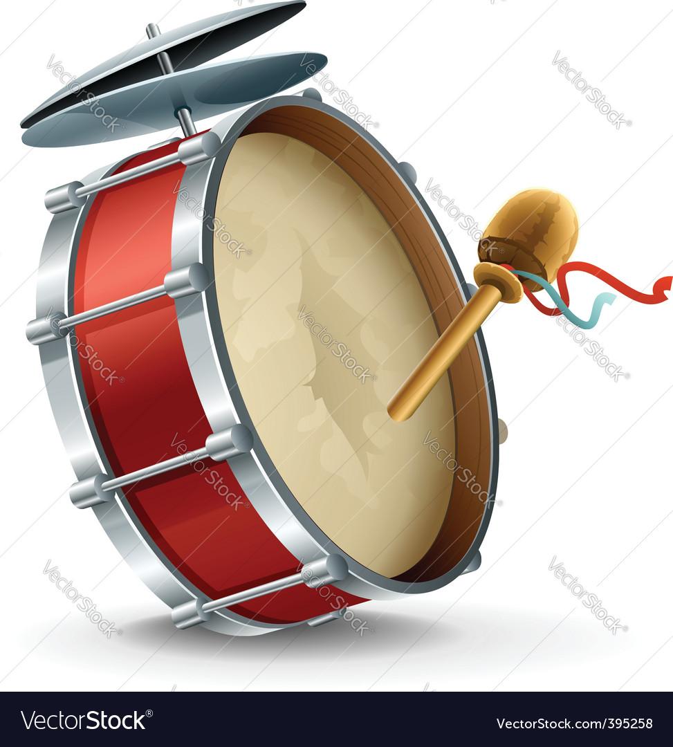 Bass drum instrument vector image