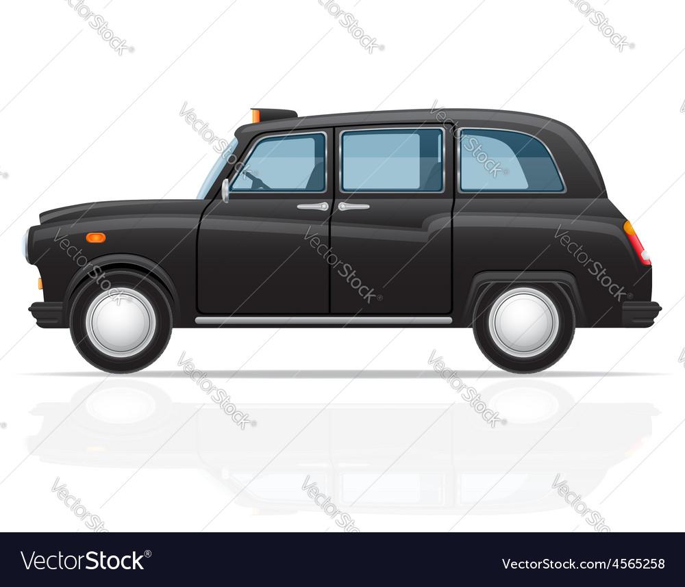 London car taxi vector image
