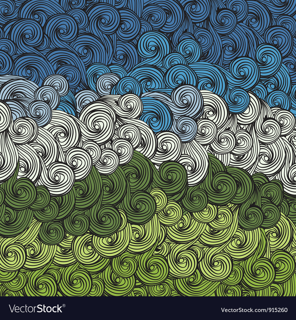 Sky and earth abstract background vector image