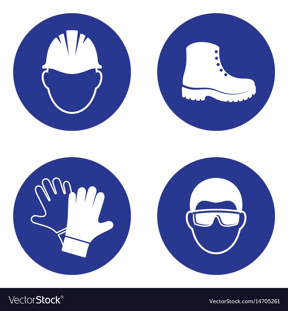 Mandatory health safety signs royalty free vector image mandatory health safety signs vector image biocorpaavc