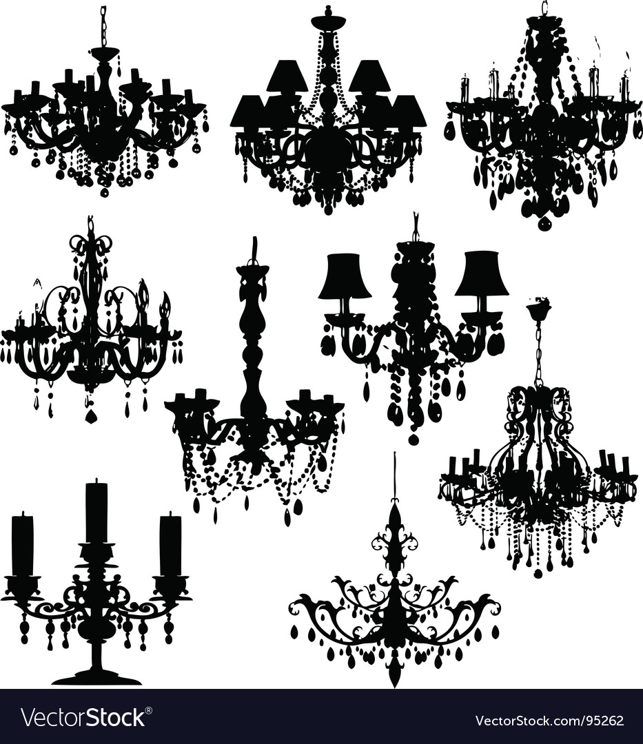 Chandeliers vector image