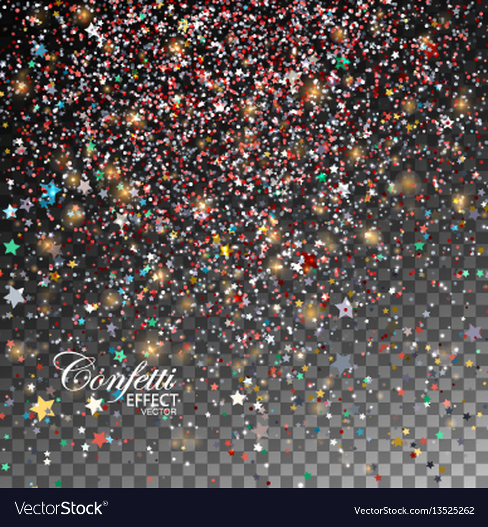 Glittering star dust vector image