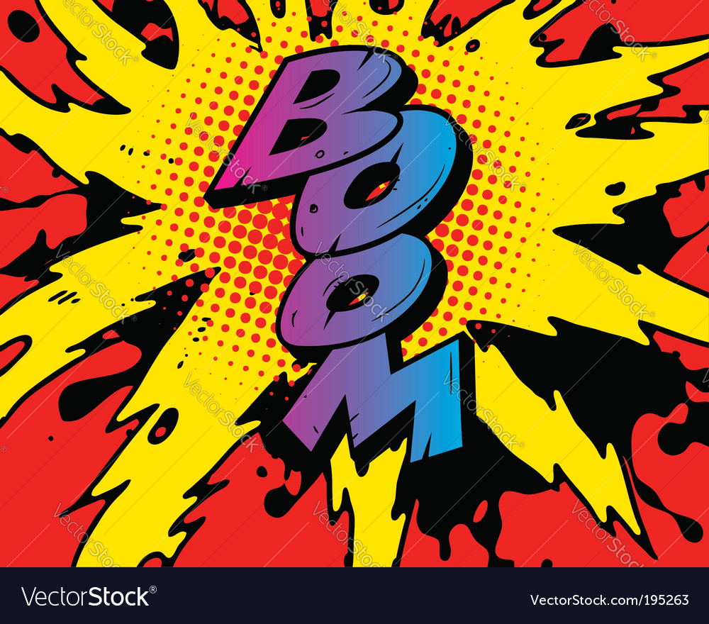 Comic boom vector image