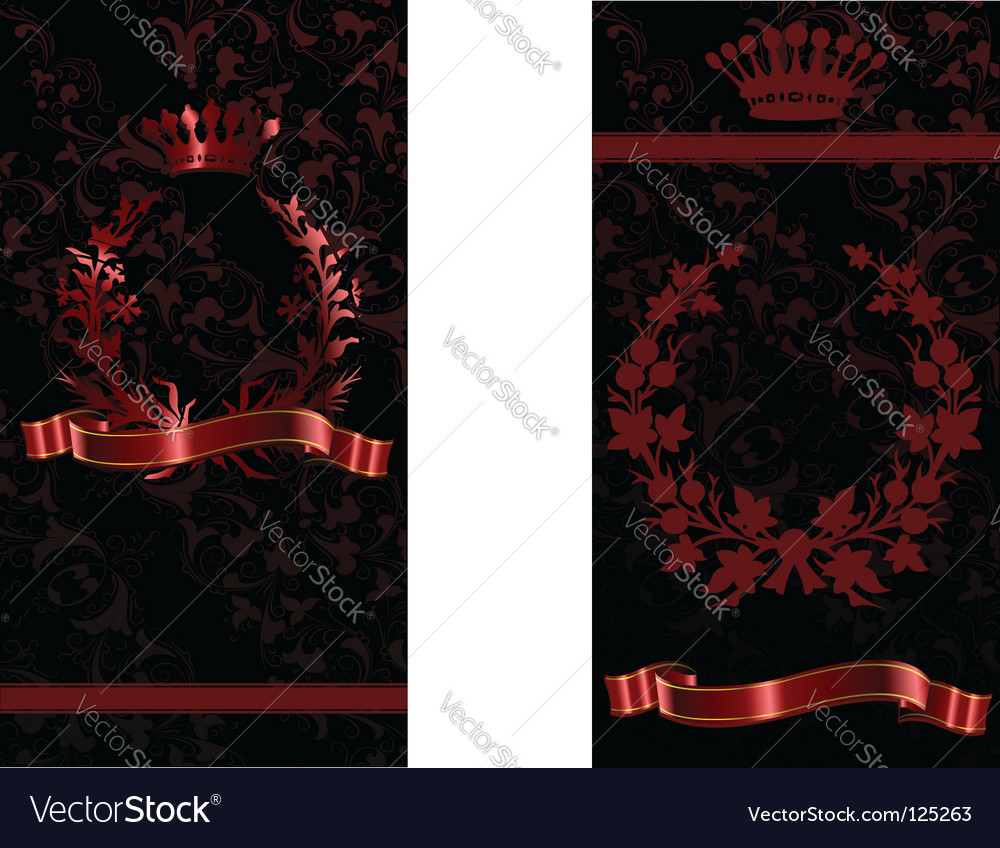Crown and flower vector image