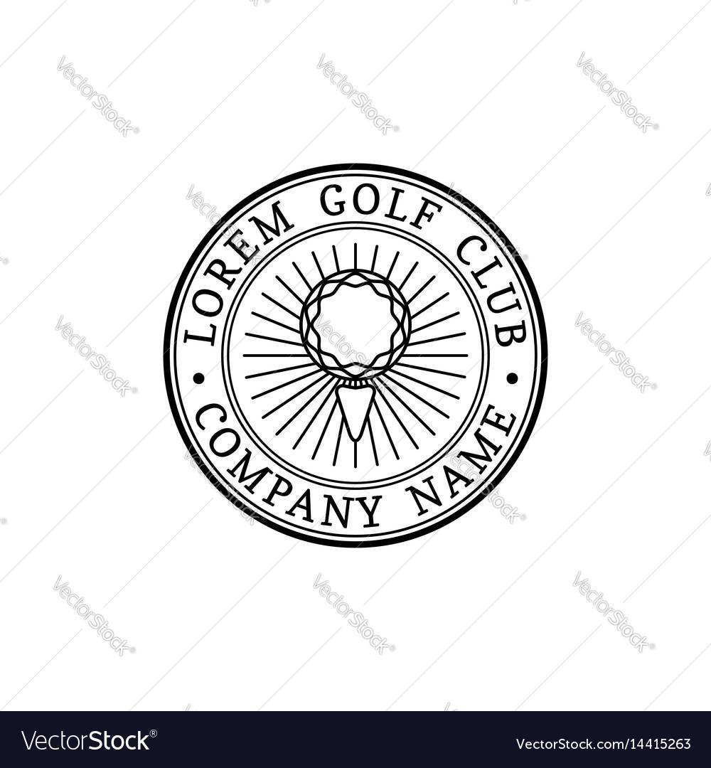 Golf logo sports club linear vector image