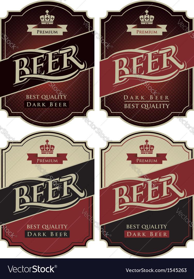 Set beer premium vector image