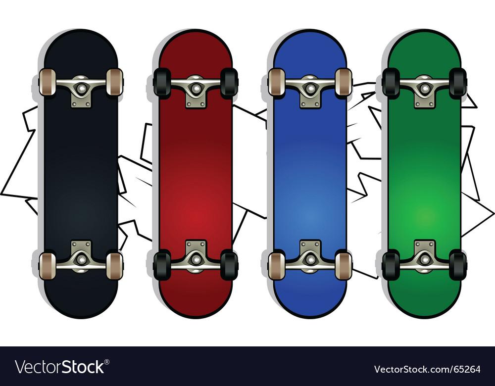 Set of skateboards vector image