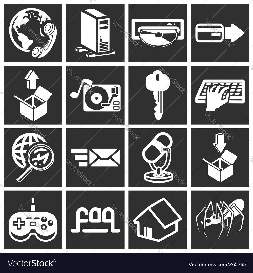 Internet web icon vector image