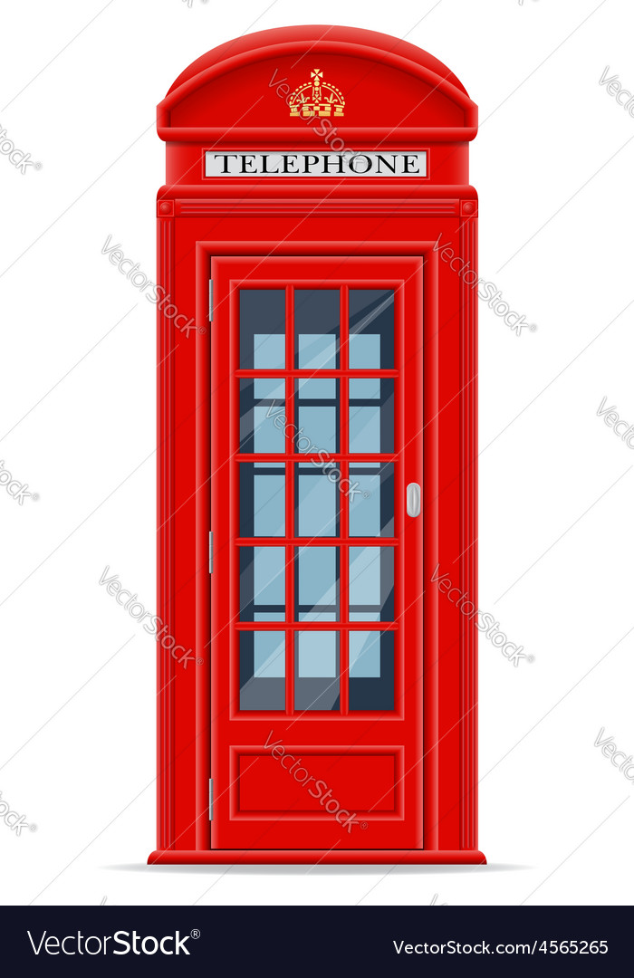 London phone booth vector image