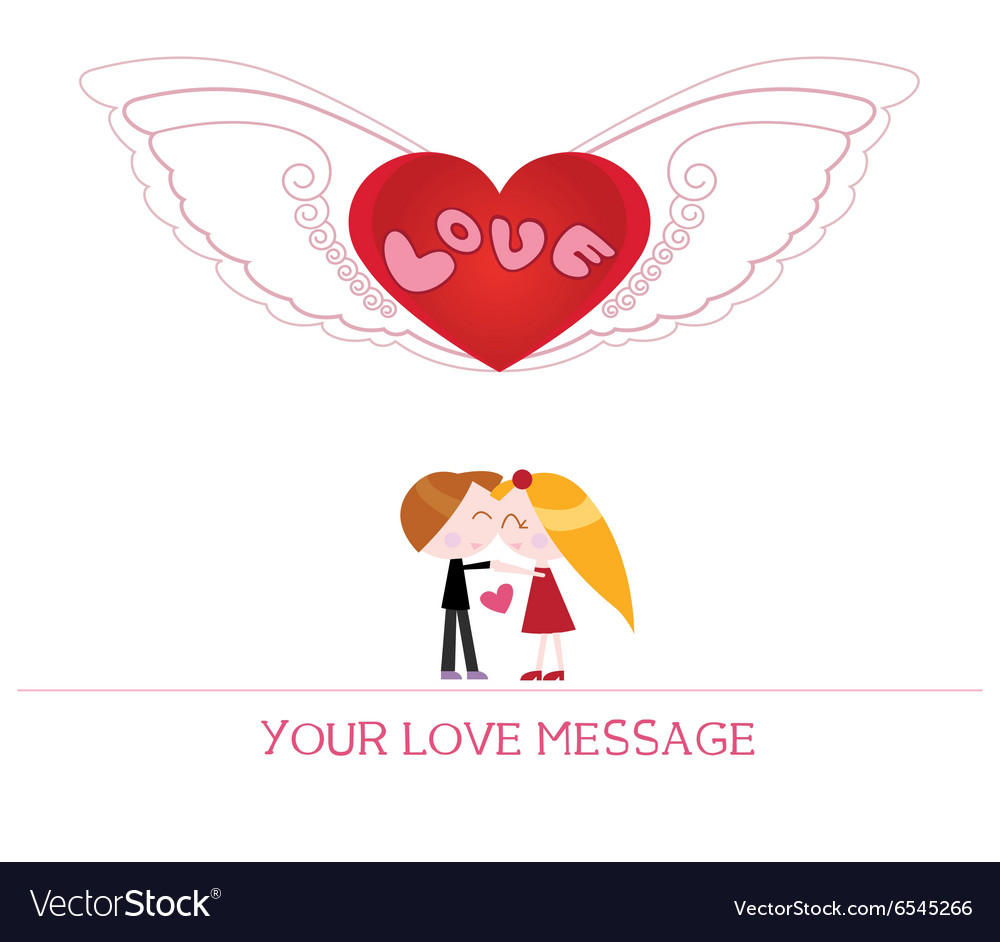 Cartoon couple in love vector image