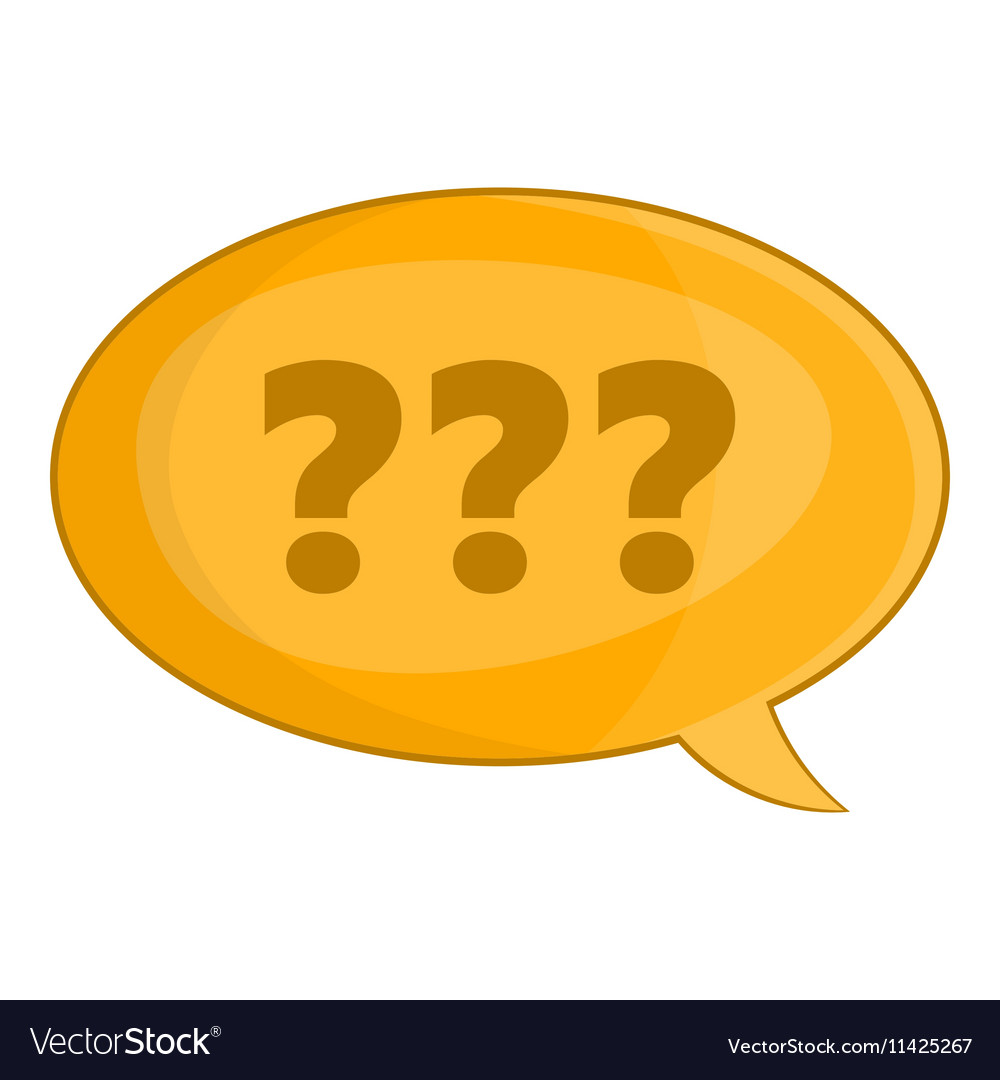 Speech bubble with question icon cartoon style vector image