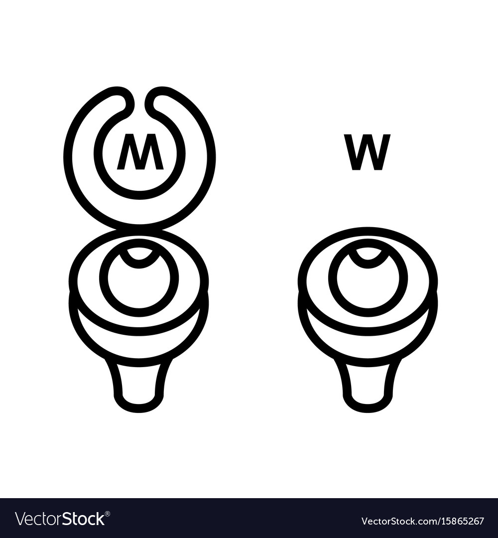 Toilet sign in funny style vector image
