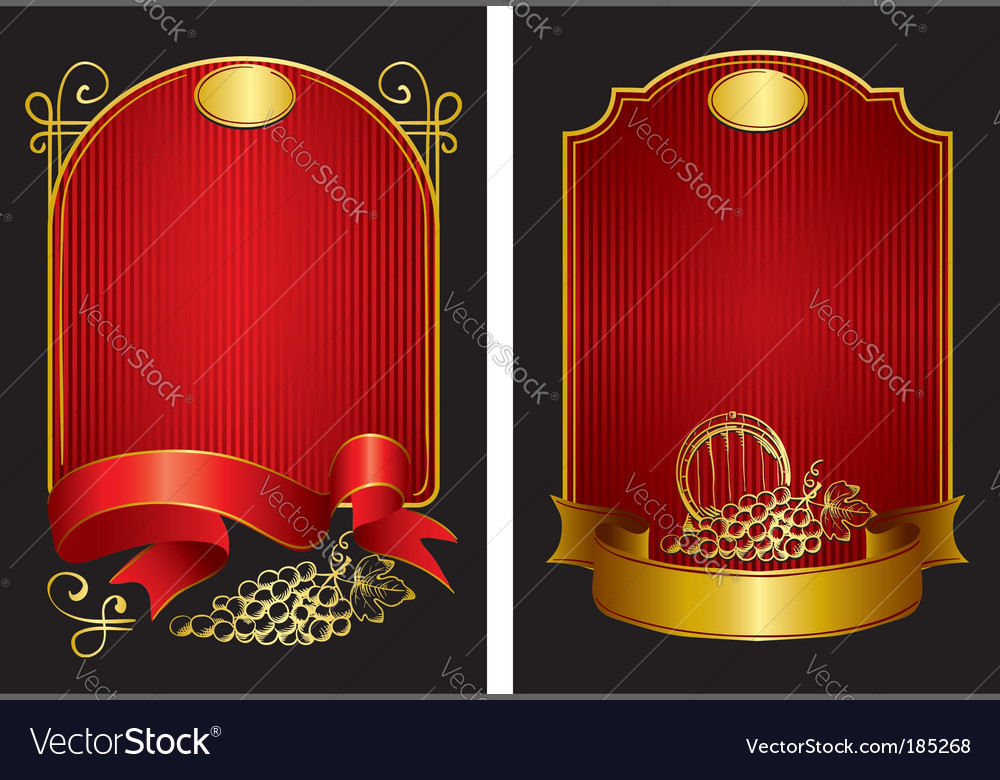 Two labels vector image