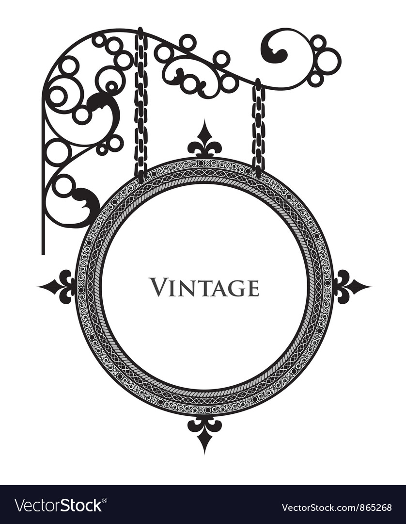 wrought iron frame vector image - Wrought Iron Picture Frames