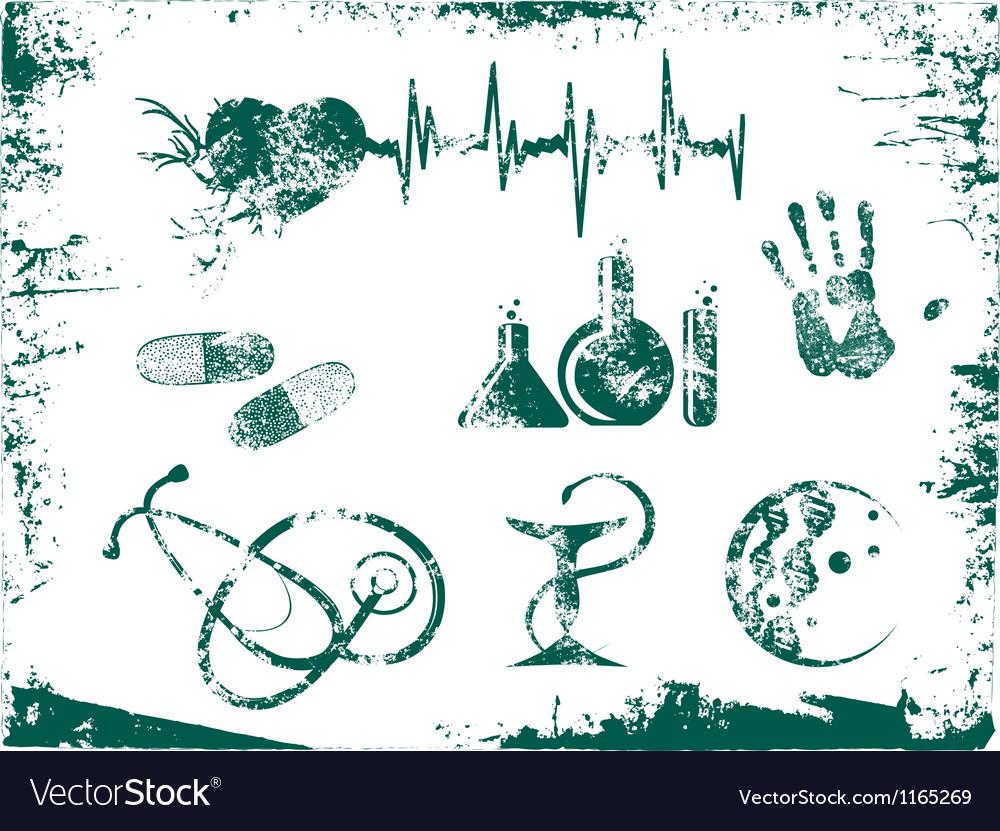 Grunge Medicine Tools vector image