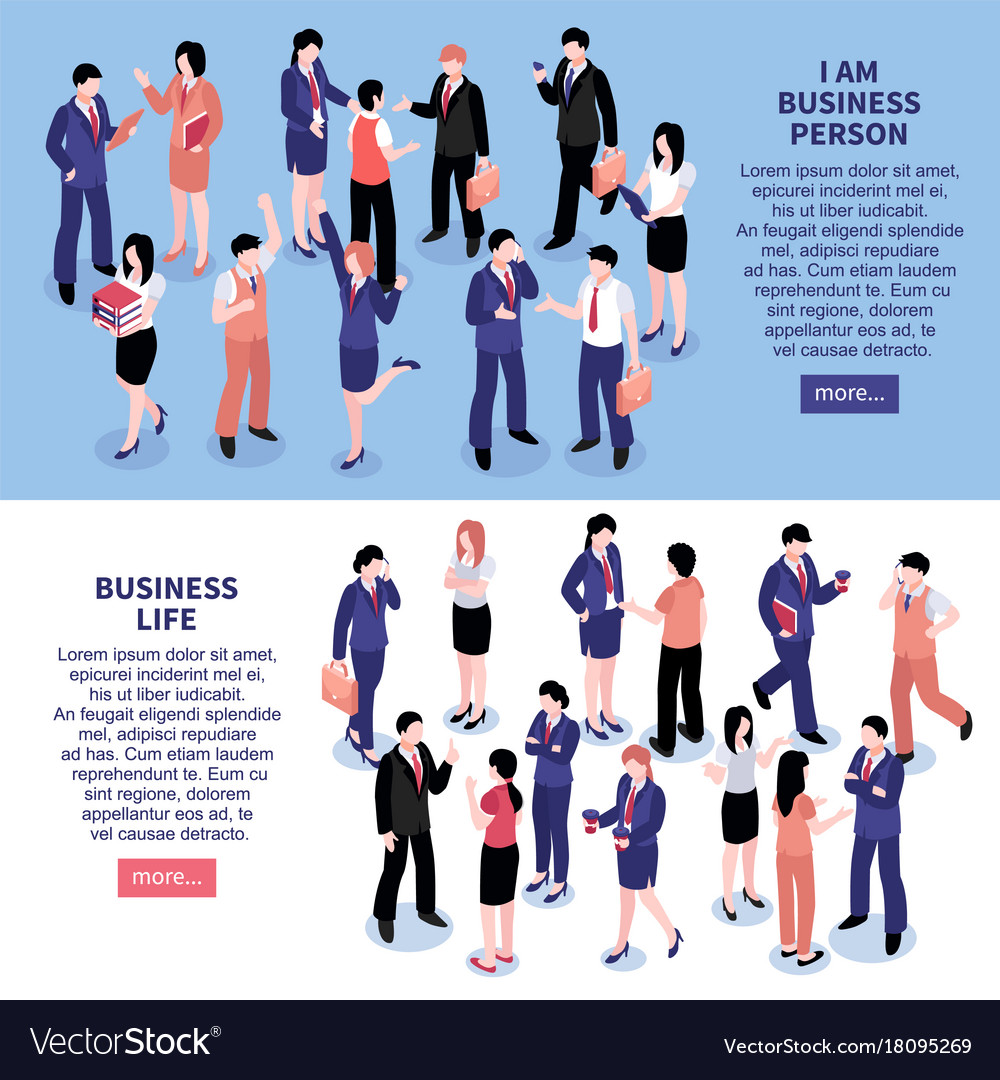 Business people horizontal banners vector image