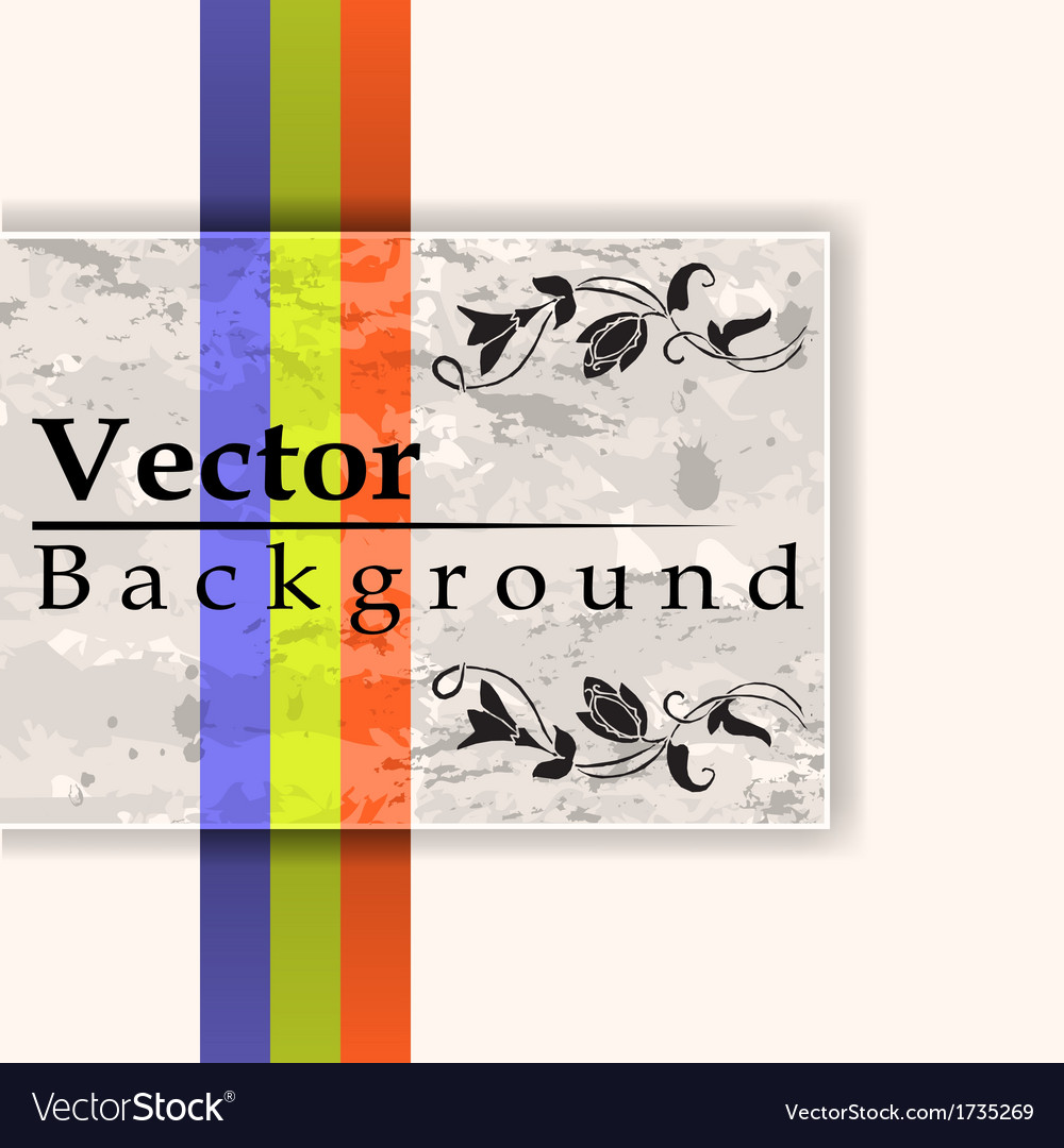 Grunge card with three lines vector image