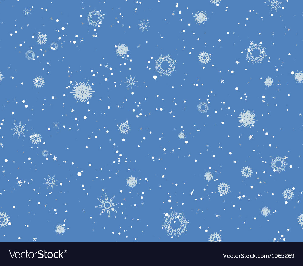 Seamless Blizzard Pattern vector image