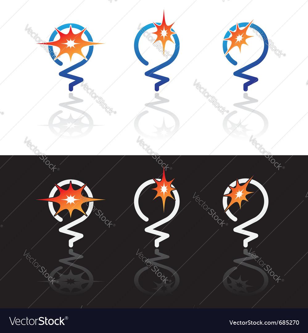 Light bulbs symbols vector image