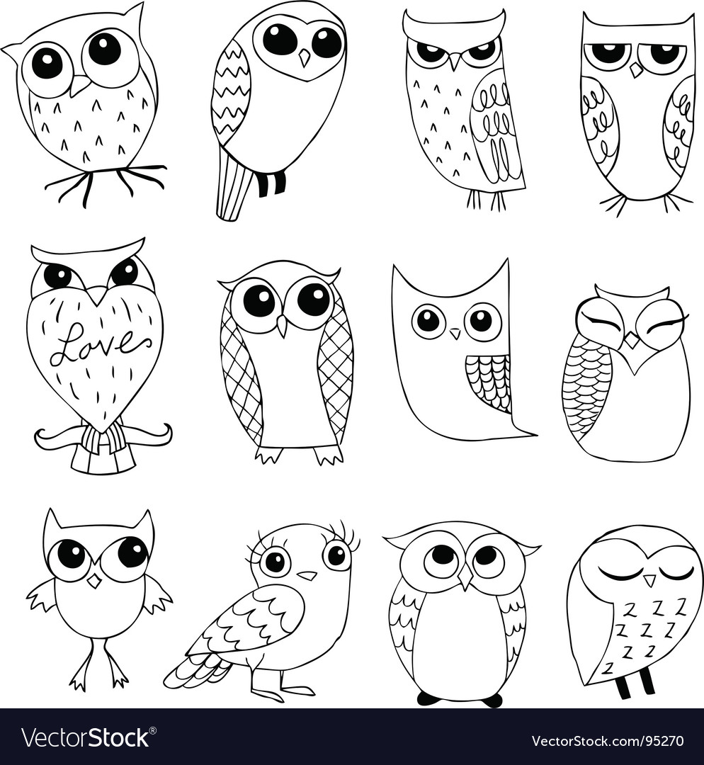 Owlstravaganza vector image