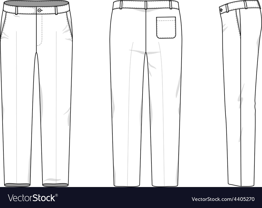 simple outline drawing of a pants vector image - Simple Outline Pictures