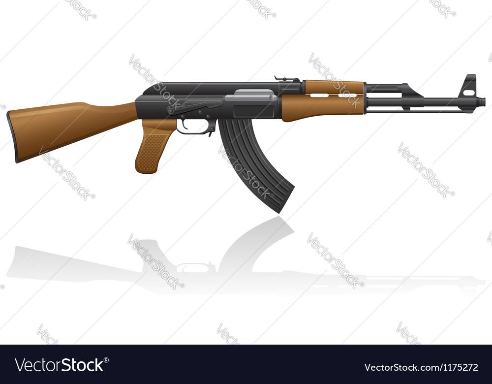Automatic machine AK 47 01 vector image