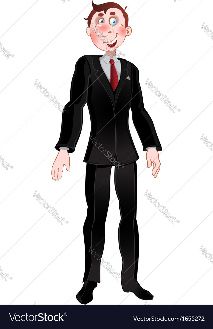 Picture men in black suit vector image