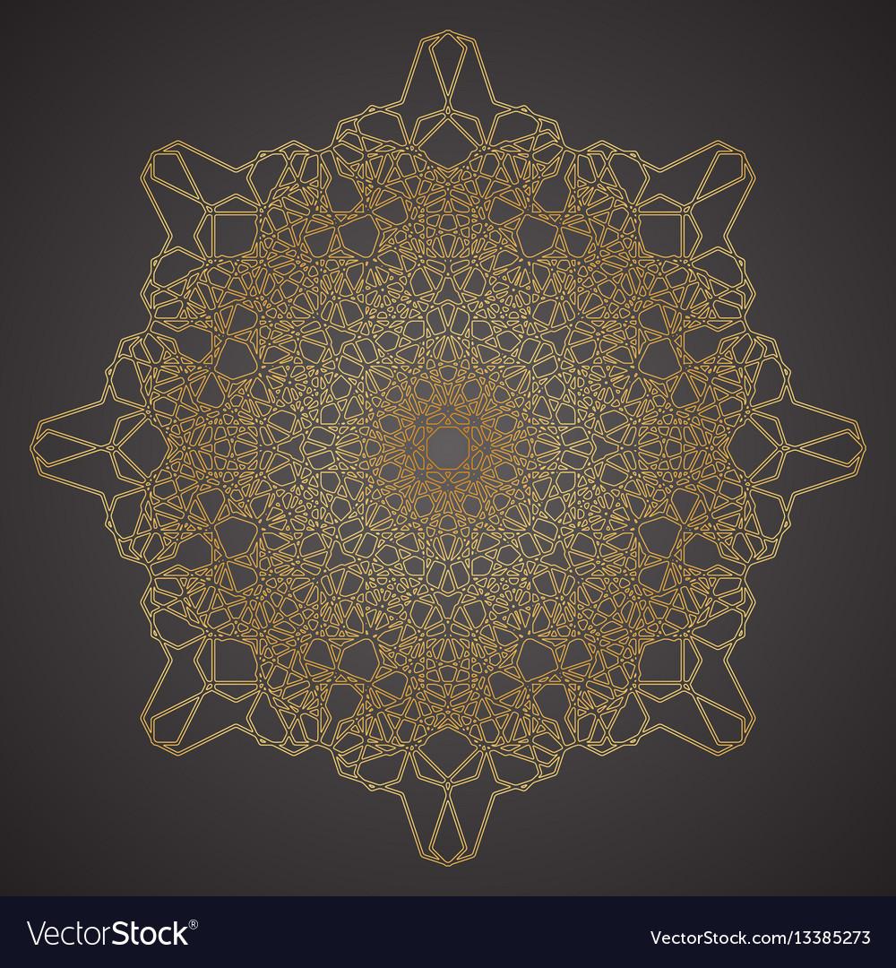 Decorative pattern geometric ornament vector image