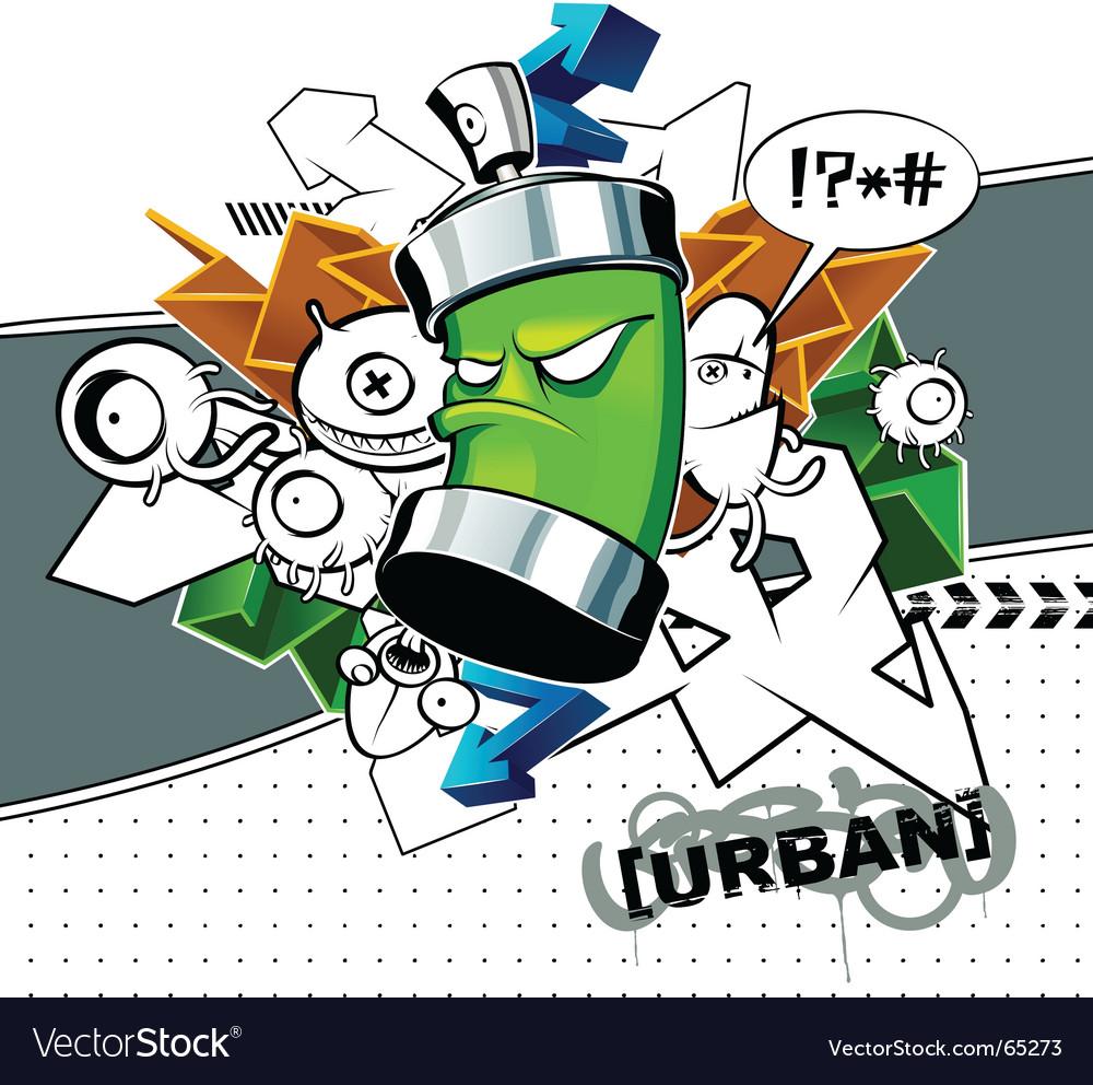 Strange graffiti vector image