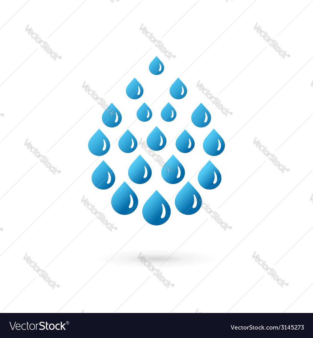 Water drop symbol logo icon vector image