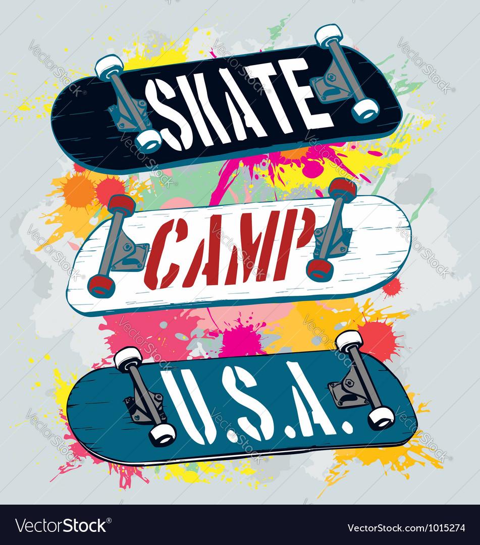 Skate camp Vector Image