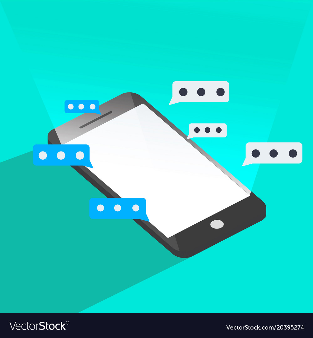 Phone chat graphic 3d style vector image