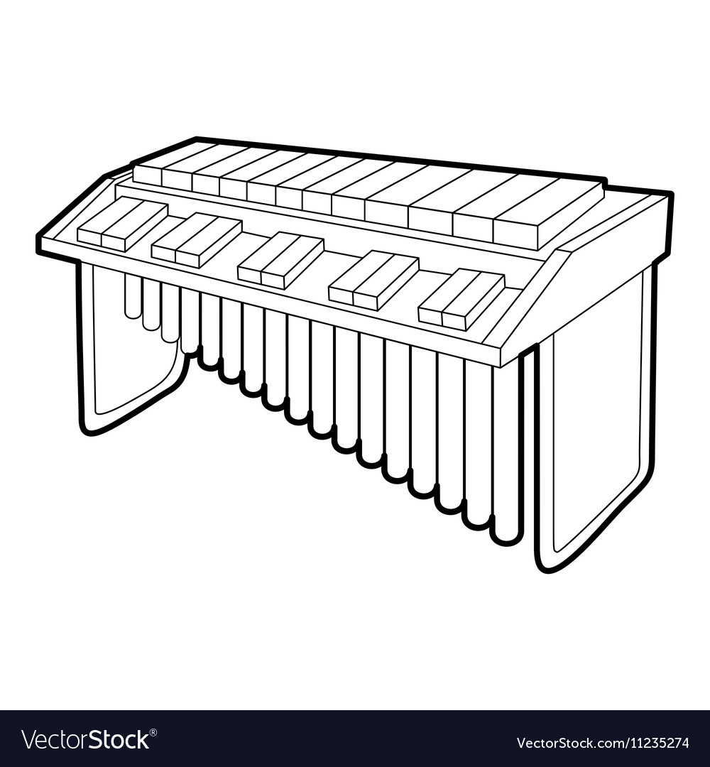 Synthesizer icon outline isometric style vector image