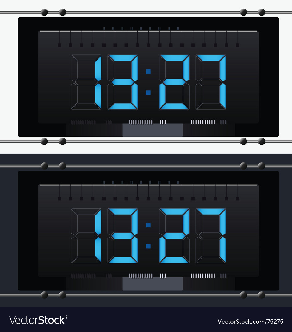 Electronic clock with dial Vector Image