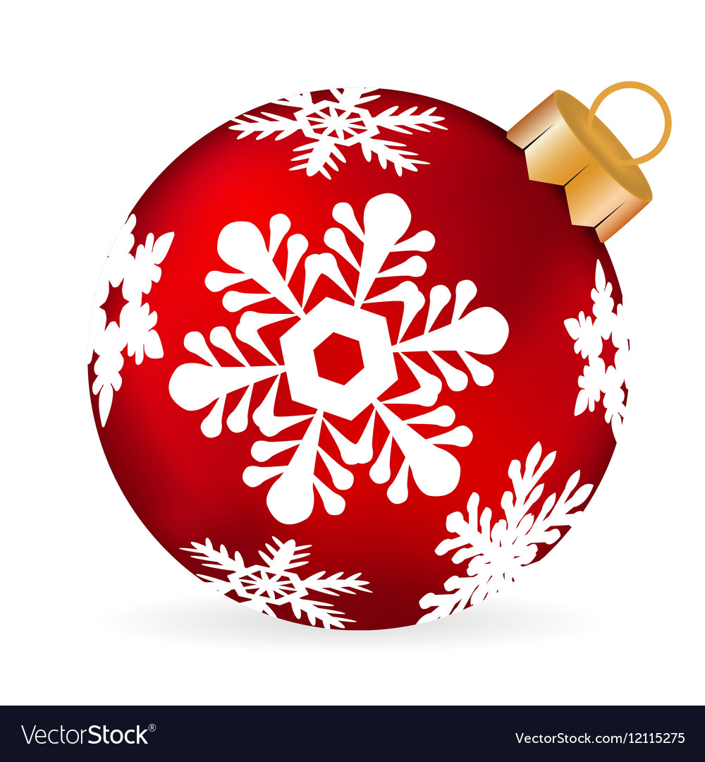 Christmas ball on a white background vector image