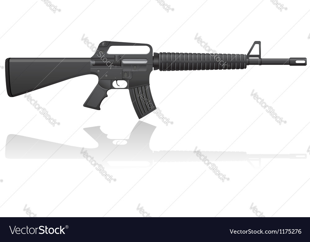 Automatic machine M 16 01 vector image