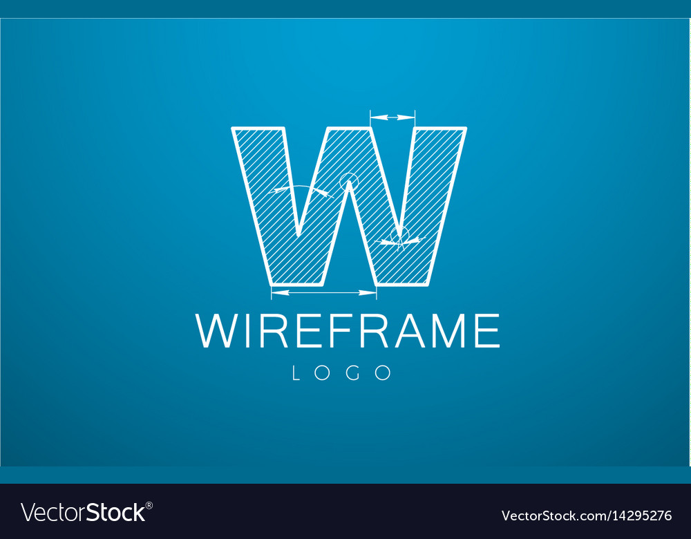 Logo template letter w in the style of a vector image