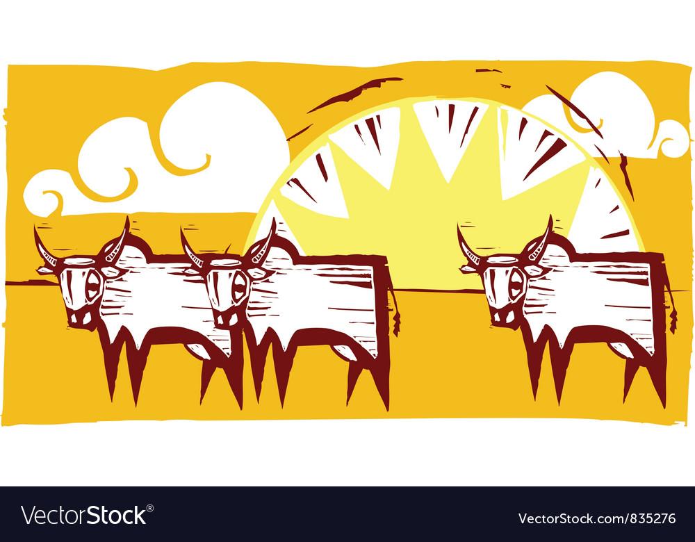 Safari Print vector image