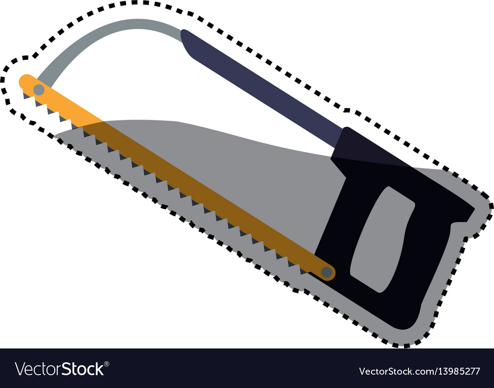 Coping saw carpentry tool vector image