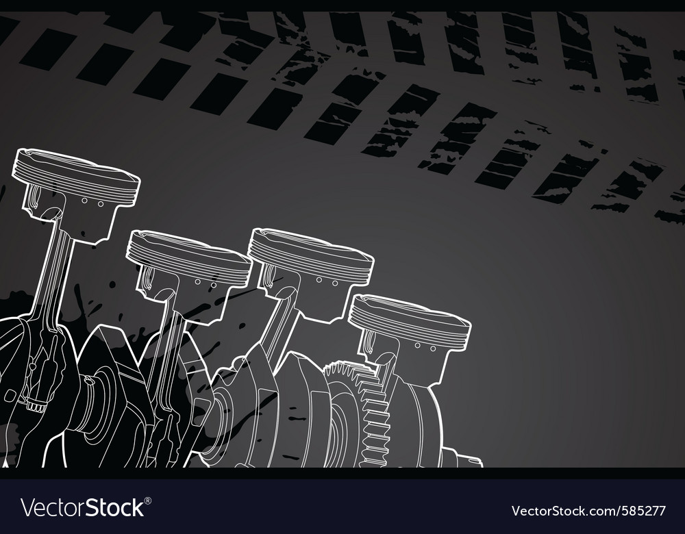 Part of engine vector image