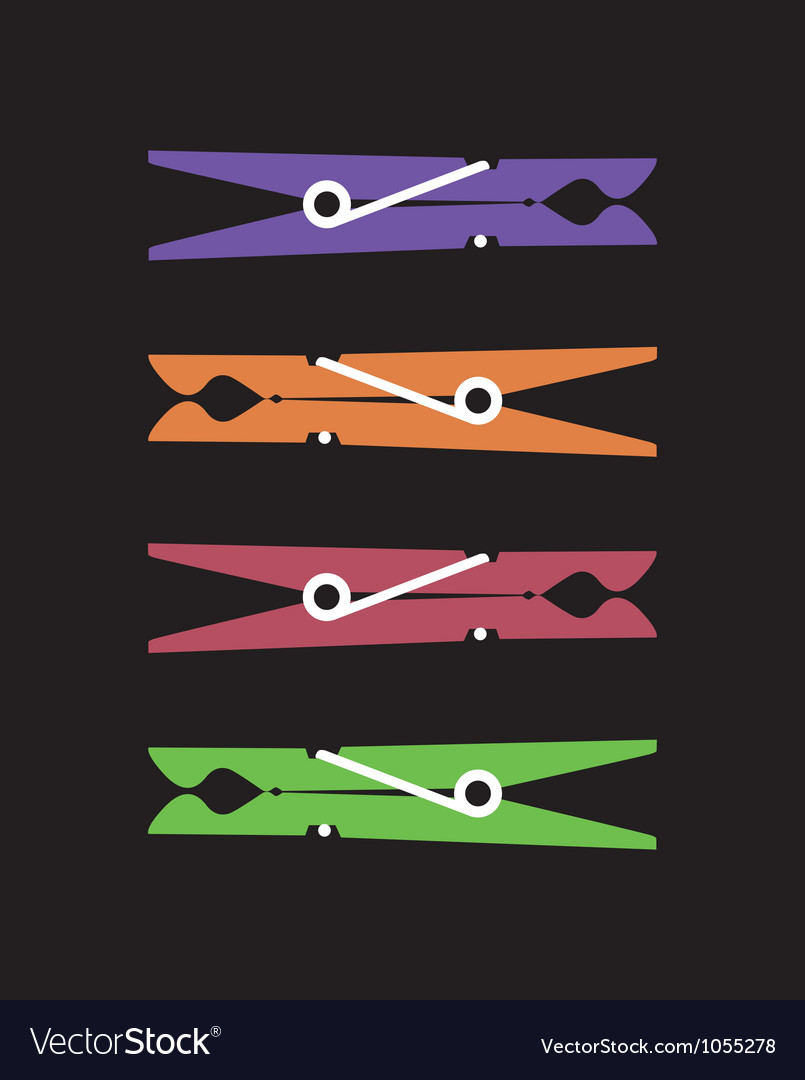 Peg clips vector image